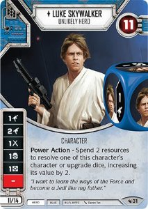 SW Destiny - Luke Skywalker Unlikely Hero