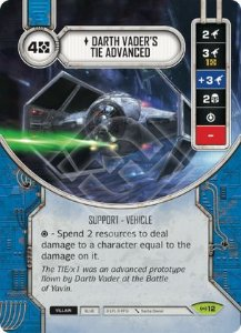 SW Destiny - Darth Vader's TIE Advanced