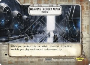 SW Destiny - Weapons Factory Alpha Cymoon 1