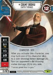 SW Destiny - Count Dooku Darth Tyranus