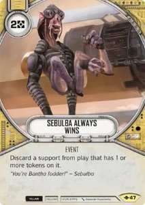 SW Destiny - Sebulba Always Wins