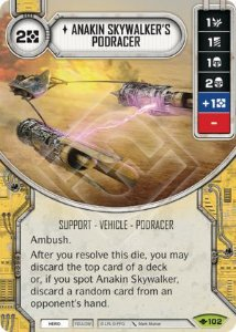 SW Destiny - Anakin Skywalker's Podracer