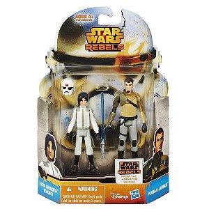 Boneco Star Wars Rebels Saga Legends - Ezra Bridger (Cadet) & Kanan Jarrus