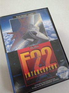 Game para Mega Drive - F-22 Interceptor