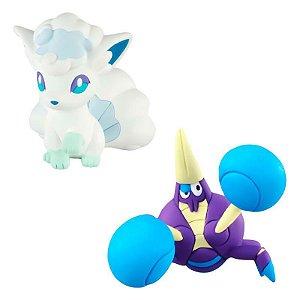 Pokémon Mini Figuras - Alolan Vulpix e Crabrawler