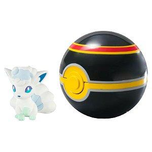 Pokémon Mini Figura com Pokébola - Alolan Vulpix e Luxury Ball
