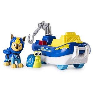 Patrulha Canina Marítima - Boneco com Veículo Chase