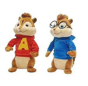 Bbr Pelucia Alvin E Os Esquilos 3 Original - Alvin E Simon