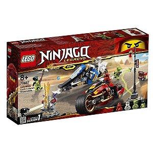 Lego Ninjago - A Motocicleta De Espadas De Kai e o Jet Ski de Neve de Zane 70667