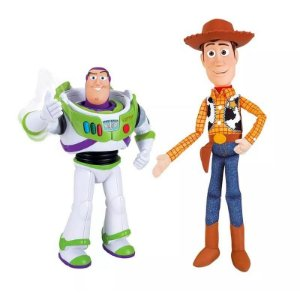 Kit Bonecos Buzz Lightyear E Woody Toy Story - Toyng