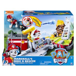 Patrulha Canina - Playset 2 em 1 Ride 'n' Rescue Marshall