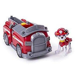 Patrulha Canina - Boneco com Veículo Marshall Transforming Fire Truck