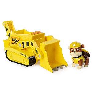 Patrulha Canina - Boneco com Veículo Rubble Transforming Bulldozer