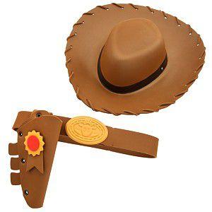 Kit Acessórios Woody Chapéu e Cinto Toy Story - Toyng
