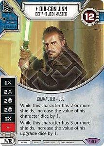 SW Destiny - Qui-Gon Jinn Defiant Jedi Master