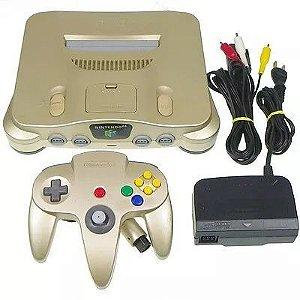 Console Nintendo 64 Japanese Gold Edition + Jogo Brinde