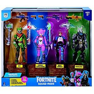 Fortnite Pack com 4 Figuras e Acessórios
