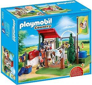 Playmobil 6929 - Estação De Preparo De Cavalos