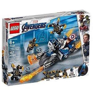 Lego Marvel - Capitão América: Ataque Outriders 76123