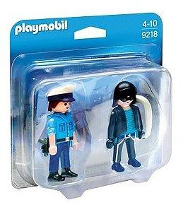 Playmobil 9218 Especial Com Blister Policial E Bandido