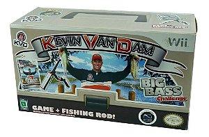 Nintendo Wii Kevin Vandam's Big Bass Challenge Com Vara
