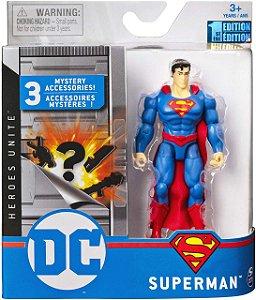 Boneco Articulado Dc Comics 10 Cm Superman