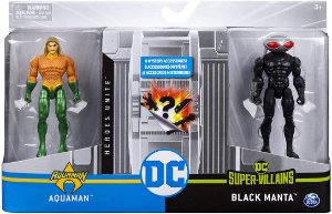 Bonecos Articulados Dc Comics 10 Cm - Aquaman E Black Manta