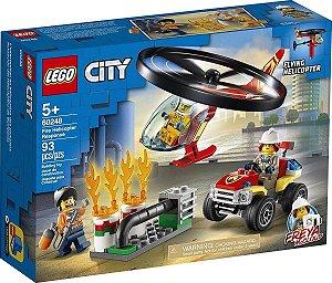 Lego City - Combate Ao Fogo Com Helicóptero 60248