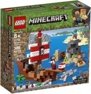Lego Minecraft - A Aventura Do Barco Pirata 21152