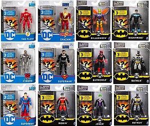 Bonecos Articulados Dc Comics 9 Cm Pack Com 12 Personagens