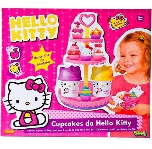 Massinha Cupcakes Da Hello Kitty