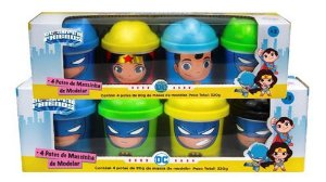 Dc Super Friends Massinha 8 Potes 80g