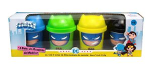 Dc Super Friends Massinha 4 Potes 80g - Batman