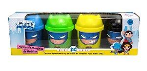 Dc Super Friends Massinha 4 Potes 80g - Batman