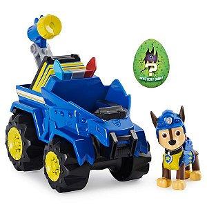 Patrulha Canina Dino - Boneco com Veículo Chase