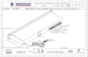 FONTE NOBREAK 24V (27,6VDC) /  5A 138W  FULL POWER COM CAIXA RACK 1U