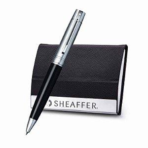 Conjunto Sheaffer (Esferográfica + Porta Cartão) Gift 300