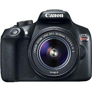 "Câmera Digital  Canon DSLR EOS Rebel T6 com 18MP, LCD 3.0"", Sensor CMOS, Full HD e Wi-Fi"