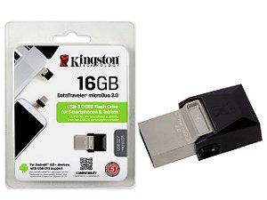 PEN DRIVE SMARTPHONE KINGSTON DTDUO3/16GB DT MICRO DUO 16GB USB E MICRO USB 3.0 OTG