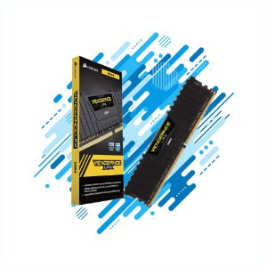 MEMORIA DESKTOP CORSAIR GAMER DDR4 4GB VENGEANCE LPX CMK4GX4M1D2400C14 2400MHZ DIMM CL14 BLACK