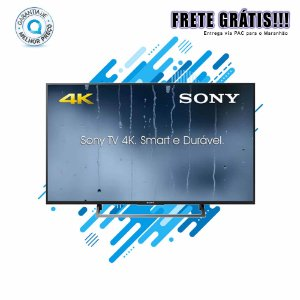 "Smart TV Sony LED 49"" Ultra HD 4K KD-49X705E BR6 Rádio FM Wi-Fi ClearAudio+"