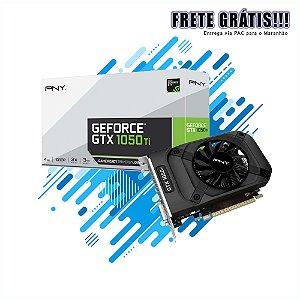 GEFORCE PNY NVIDIA GTX 1050TI 4GB DDR5 128BIT 7000MHZ 1290MHZ 768 CUDA CORES DVI HDMI DP Gamer