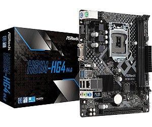 PLACA S1150 H81M-HG4 R4 DDR3 Áudio HD 7.1 Canais USB 3.1 ASROCK