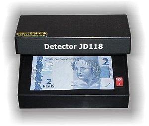 Detector de Dinheiro Notas e Documentos Falsificados JD118