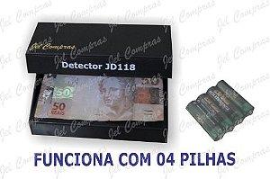 Detector de notas. doc. falsos(JD118) Pilhas