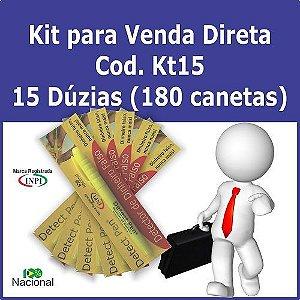 Kit com 180 canetas p/ Revenda + Material de Apoio Grátis. Detect Pen para detectar dinheiro falso