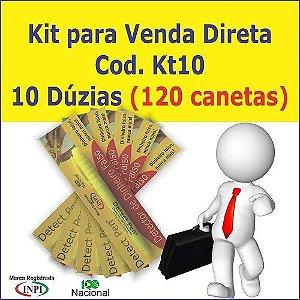 Kit com 120 canetas p/ Revenda + Material de Apoio Grátis. Detect Pen para detectar dinheiro falso