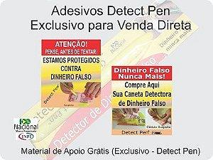 Kit com 60 canetas p/ Revenda + Material de Apoio Grátis.Detect Pen para detectar dinheiro falso