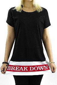 T-shirt em algodão com barra em recorte BREAK DOWN