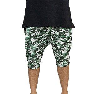 Bermuda Camuflada em moleton estilo saruel